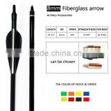 archery fiberglass arrow for compound bow