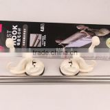 wholesale hot sell stainless steel bathroom accessories towel holder towel racks with sucking disc