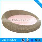 Theme Hotel Furniture Spring Mattress Wicker Big Round Bed