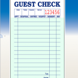 1part bond paper guest check CT-G3616