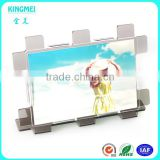 KM-VP11 Factory wholesale custom shape acrylic photo frame new mosaic L shape tawny frame