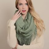 Plain Color Winter Fringed Infinity Circle Loop Scarf Wrap Manufacturer