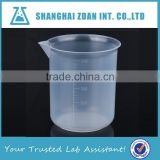 Heavy Duty Low Form Beaker Graduated,Plastic Beaker PP,Plastic Measuring Cups