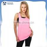 ladies low cut wholesale hot girls sexy tank top women gym singlets custom singlet gym vest 2016
