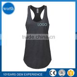Women Tank Tops Athletic with Logo Available Summer Sleeveless Racer-Back Black and Scallop Bottom style