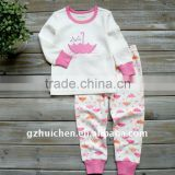 2011 autumn babies clothes set 100% cotton embroider sleep suits