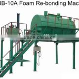 High quality rebond foam machine with steam for foam factory