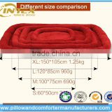 Luxury Brown Enclosed orthopedic Dog Bed