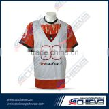 Lacrosse sports shirts lacosse sports pinnies custom