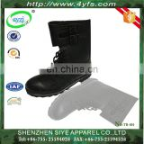 black color genuine leather army tactical boots