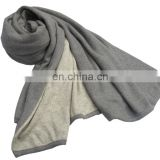 Cashmere knit scarf, shawls,Double face winter Pashmina wool blended knit scarves