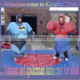 Adult Batman and spiderman sumo costume
