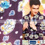 polar flower pattern printed fleece for clothing