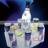 Clear plastic red bull boat can vodka energy cold drinks ice bucket