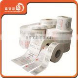 China paper heat resistant labels stickers