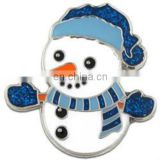 CUTE CARTOON FUNNY SNOWMAN LAPEL PIN CHRISTMAS GIFT