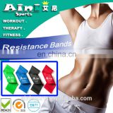 Gym Equipment Stretch Handle Exercise Latex Loop Resistance Bands set,Resistance loop Bands set