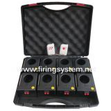 8 cues remote firing system for stage fountain, powered by 9V battery