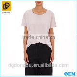 2016 Custom Wholesale Hot Sale Open-back Design Lady Cheap Casual T shirt