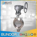 Chemical industry dn100 inox stainless steel manual eccentric metal seal butterfly valve