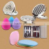 Women beauty makeup promotional gifts,Beatiful Lady Metal Compact Makeup Mirror
