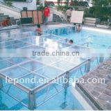 swimming pool glass stage