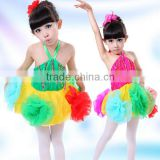 Hot New beautiful dance dress baby girls puffy dresses colorful flower girl dresses