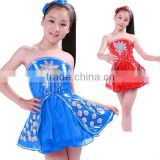 Children's Day New Jazz dance/ folk dance /Modern dance costume leather costume green dress lyrical dance costume dress