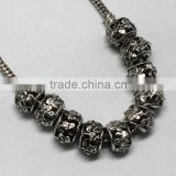 Pdora Jewelry Accessories Hanging Metal Beads, Handmade Zinc Alloy Beads with Large Hole