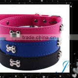 2015 Hot Sale Leather Pet Collar PU Dog collars For Wholesale