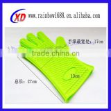 Kitchen Accessory Hand Gloves BBQ Silicone Glove Heat Resist Silicone Oven Gloves With Fingers
