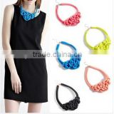Multicolor Handmade Knit Woven Color Cotton Rope Necklace Pendant FQ-N217                                                                         Quality Choice