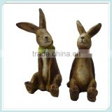 Small animal ceramic easter rabbit figurines wholesale