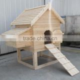 outdoor wooden chicken coop for hen