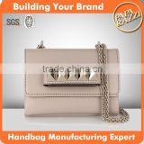 S034 Latest first class PU clutch Bags with Pyramid Studs Shoulder strap Handbags Factory                                                                         Quality Choice