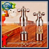 Stainless Steel Salt and Pepper Mill pair with Adjustable Coarseness, Easy to Fill and Maintain Spice Freshness
