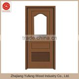 MDF wooden toilet glass door pvc with louver