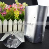 custom print coffee bag with valve , food grade lamination stand up aluminum heat seal packing bag