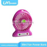 Wholesale Portable Hand Battery Power Bank mini fan