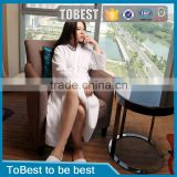 ToBest Hotel supplies 100% Cotton Towel Fabric Good Water Absorbent White Hotel Bathrobes