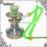 Maya Alloy Shisha Hookah Narguile Chicha Cachimbo Plastic Hose Tube Water Smoking Pipe Clear Glass Hookah