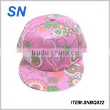 top sale colourful embroidery custom snapback fashion girls hat