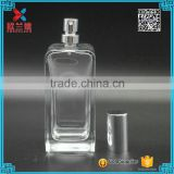 110ml square shape china clear glass parfum bottles , cheap wholesale nice quality bottle only                                                                                                         Supplier's Choice