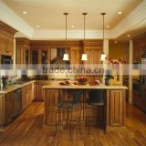 European Solid Wood Kitchen Cabinets With Island DJ-K125