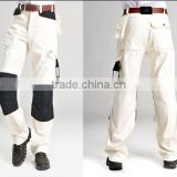 2015 new design cotton Double knee, intermediate can add pad work trousers