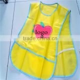 Reuseable children/baby/kids PVC/PEVA plastic apron for painting