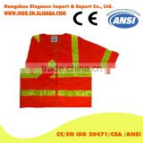 New Style Safety Vest With Pouch Adults Safety Vest En471 Short Sleeves Mesh Fabric Vest