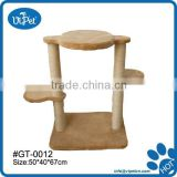 Natural soft plush cat tree wood