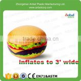2015 Delicious Burger Toys Giant Inflatable Hamburg Ball For Pool And Beach