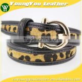 NEW Casual PU belt for fashion dress with PU faux fur leather China factory wasit belt for lady